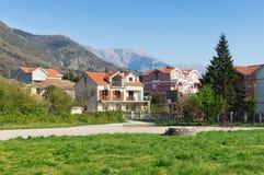 playground Vila de Donja Lastva, Montenegro imagens de stock royalty free