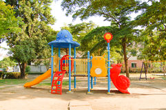 Playground in the village. Outdoor playground in the village Royalty Free Stock Photography