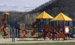 Playground - Waiting for summer stock photography