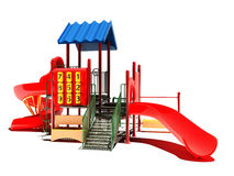 Playground on a white background. Stock Photo