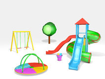 Playground on white Stock Image