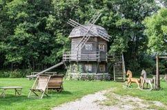 Playground and windmill Stock Photos