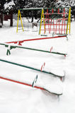 Playground in winter Royalty Free Stock Photo
