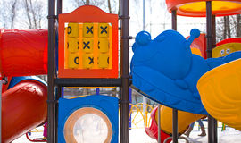 Playground in winter Stock Photography