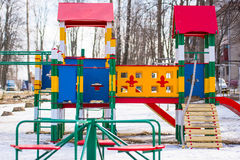 Playground in winter Royalty Free Stock Image
