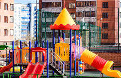 Playground in winter Stock Images