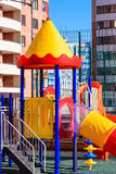 Playground in winter Stock Image