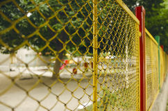 Playground Wired Fence Royalty Free Stock Photo