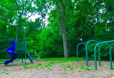 Playground In The Woods Stock Photography