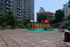 Playground in the yard in china stock photo