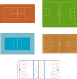 Playgrounds. Various vector playgrounds (in scale Stock Photo