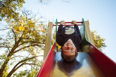 Playgrounds and childhood royalty free stock photo