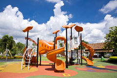 Playgrounds in garden Royalty Free Stock Photo