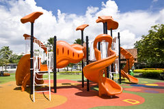 Playgrounds in garden Stock Photo