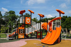 Playgrounds. A playgrounds in the garden Royalty Free Stock Photo