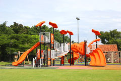 Playgrounds in garden. Stock Photo