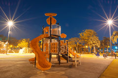 Playgrounds. A Playgrounds in garden at night Royalty Free Stock Photography