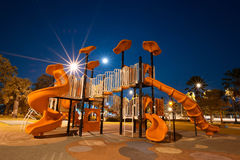 Playgrounds. A Playgrounds in garden at night Royalty Free Stock Image