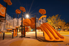 Playgrounds. In garden at night Stock Photography