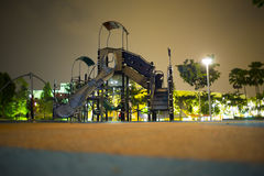 Playgrounds in garden at night. Desa park city,Malaysia Stock Photography