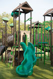 Playgrounds in garden. A one playgrounds in garden Stock Image