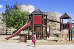Playgrounds in park Royalty Free Stock Photos