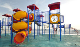 Playgrounds at seaside park Royalty Free Stock Photo