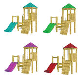 Playgrounds on white Stock Photos