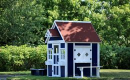 Playhouse in the garden Royalty Free Stock Photo