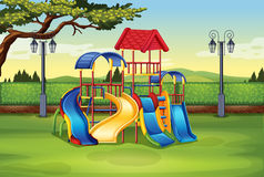 Playhouse in the middle of the park. Illustration Royalty Free Stock Images
