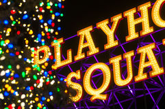 Playhouse sign Christmas Stock Photography