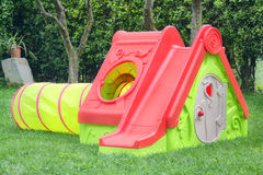 Playhouse with slide Royalty Free Stock Photos