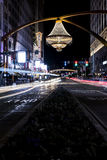 Playhouse Square. The centerpiece of Playhouse Square in downtown Cleveland, Ohio, a 20-foot-tall outdoor chandelier, is the largest in the world. Weighing 8,500 Stock Photography