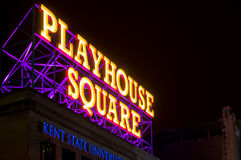 Playhouse Square sign royalty free stock photo