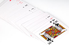 Playig cards. Some cards for play poker Stock Images