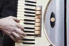 Playing Accordion Stock Image