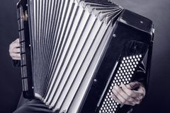Playing the accordion Royalty Free Stock Photos