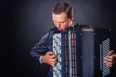 Playing the accordion Stock Photography
