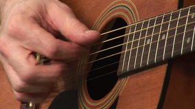 Playing Accoustic Guitar stock video