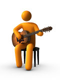 Playing The Acoustic Guitar Royalty Free Stock Images