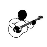 Playing acoustic guitar -   icon Royalty Free Stock Photography
