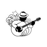 Playing acoustic guitar -   icon Stock Photo