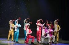 Playing Allegro-Chinese folk dance Stock Photos