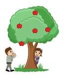 Playing Around Tree - Vector Royalty Free Stock Photo