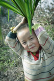 Playing asian rural child Royalty Free Stock Photo