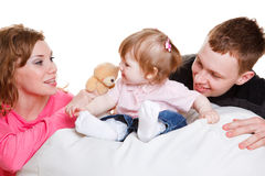 Playing with baby Royalty Free Stock Photos