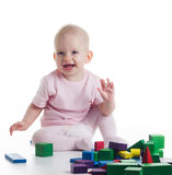 Playing baby Stock Images