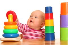 Playing baby girl Royalty Free Stock Image