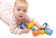 Playing Baby Girl Stock Photo