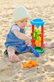 Playing baby girl Royalty Free Stock Photo